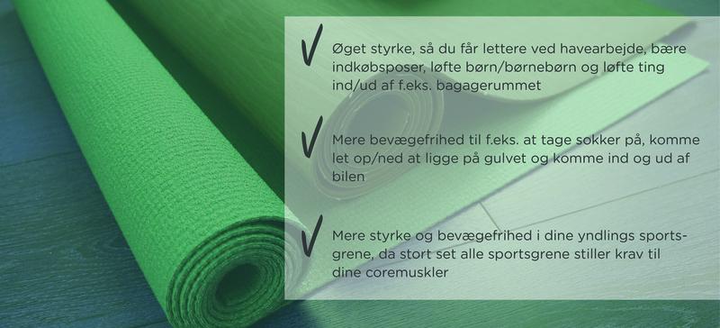 Stærk Core Programmerne giver dig: