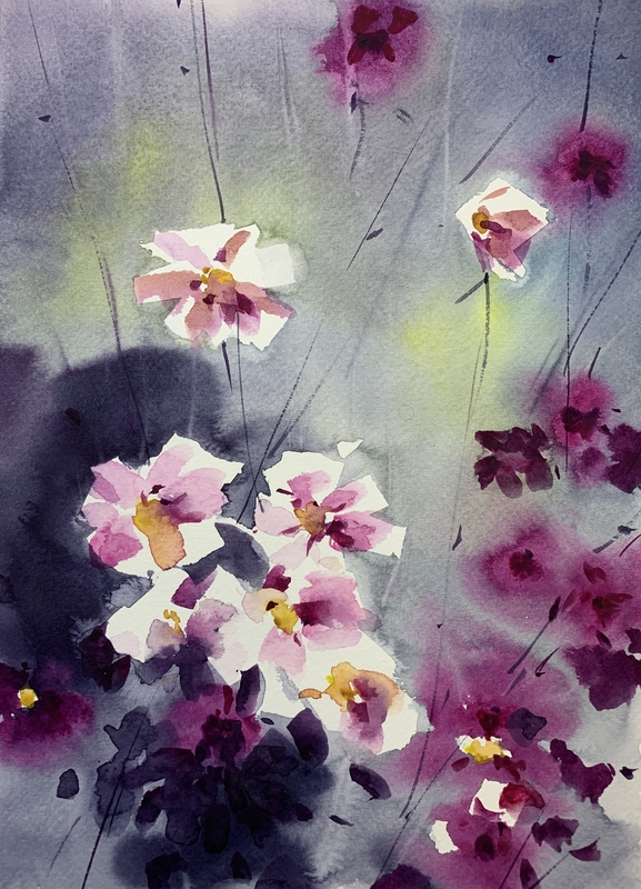 blomster akvarelmaling