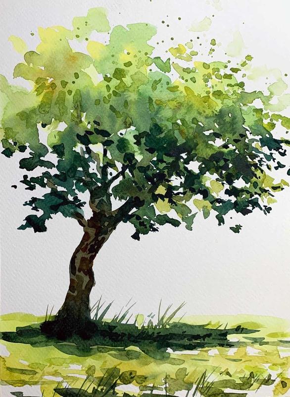natur akvarel