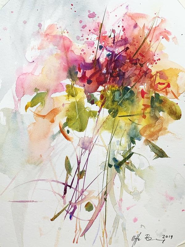 blomster akvarel