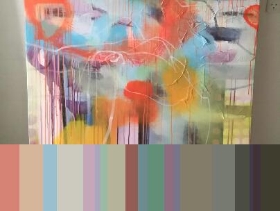 Se eksempel fra app. Jeg har taget et billede af mit maleri og app'en viser mig hvilke farver der findes deri - det gør det meget nemmere at vælge hvilken farve jeg kan gå videre med. F.eks. hvis det skal gøres lysere eller mørkere