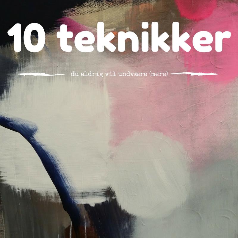 10 teknikker i abstrakt maleri