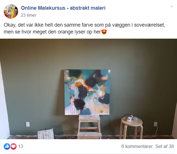 færdigt maleri