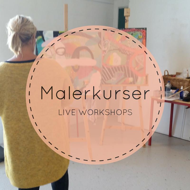 LIVE malerkurser i abstrakt maleri i Jammerbugt Aabybro og Tranum